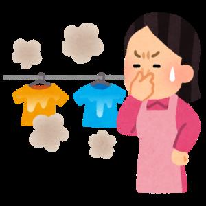 生乾きの洗濯物に悩む主婦