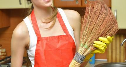 在宅仕事と掃除