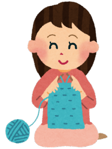編み物をする-在宅ライターにの日常
