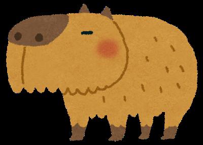 ♪ピンポンパンポンプーのキャラクターカピバラ